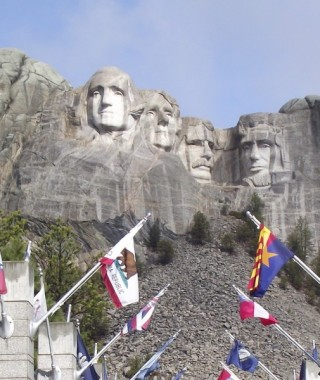 Mount Rushmore with F