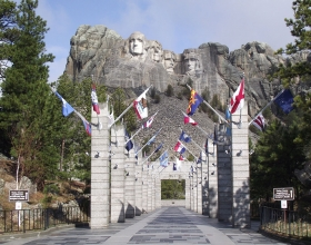 Path Leading Up To The Mount Rushmore National Memorial