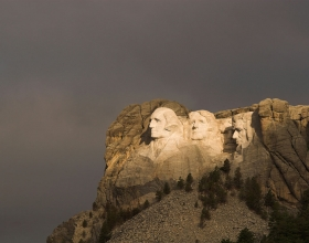 Mount Rushmore National Memorial During A Storm