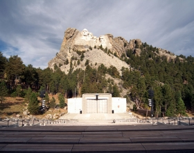 Mount Rushmore National Memorial Amphitheatre In The Fall