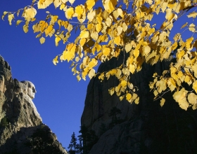 Mount Rushmore National Memorial In The Fall